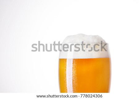 pint mug of beer isolated on a white backgroun