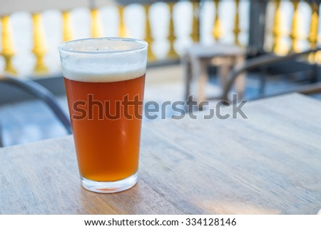 Pint of crafted ale - stock photo