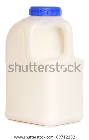 pint of milk on white background