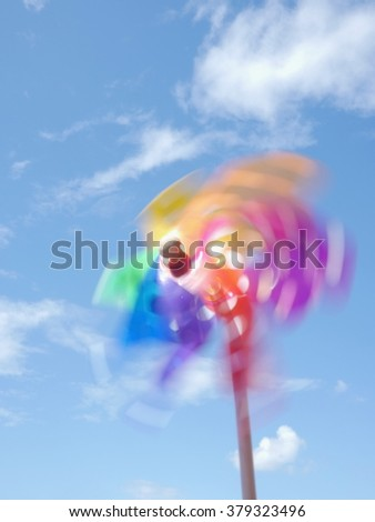pinwheel - stock photo