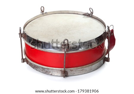 pioneer drum isolated on white background  - stock photo