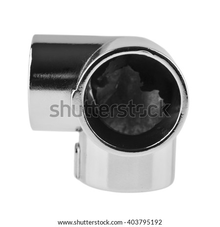 pipe connection isolated on white background