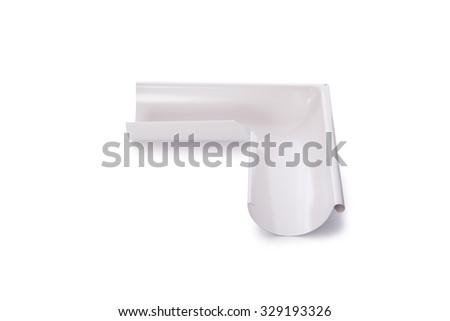 Pipe connector isolated on the white - stock photo