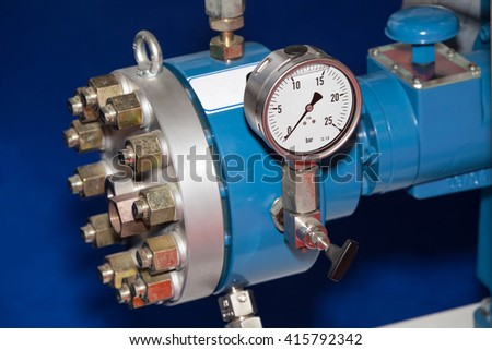 Pipe manometer view for the pressure measurment - stock photo