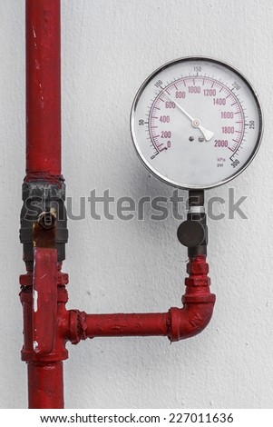 Pipe valve water connection on industry - stock photo