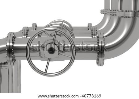 Pipeline Detail Depth Of Field - stock photo