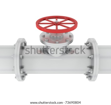 Pipeline - Oil Industry - 3d illustration - stock photo