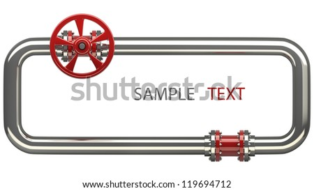 Pipeline Stopcock isolated on white background High resolution 3D - stock photo