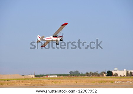 Piper Super Cub showing its short field takeoff performance