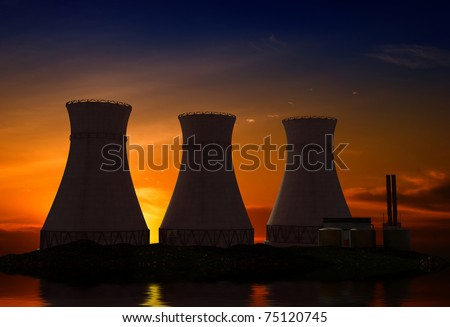Pipes nuclear power plant. - stock photo