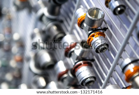 Piping and plumbing fitting - stock photo