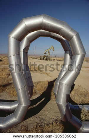Piping at oil field