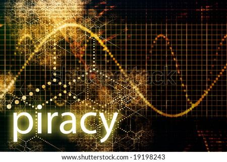 Piracy Abstract Technology Business Concept Wallpaper Background
