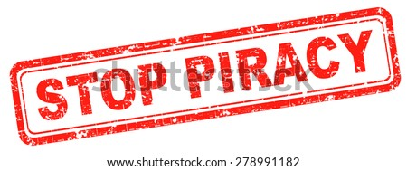 piracy stop illegal download and copying, copyright and intellectual property protection protect copy of trademark brand - stock photo