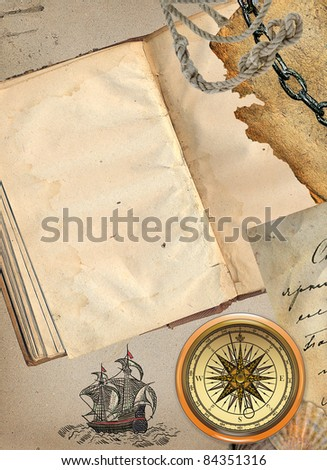Pirate book - stock photo