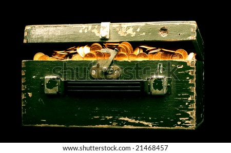pirate chest - stock photo