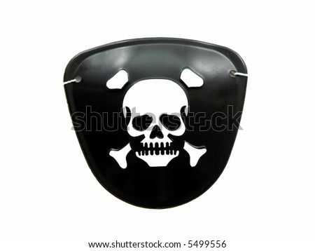 Pirate eye patch - stock photo