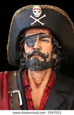 Pirate watercolor - stock photo