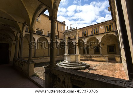 Pisa Italy June 05 2016 Interiors And Architectural Details Of Pisa Charterhouse