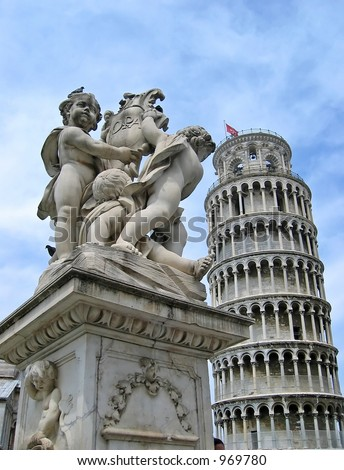 Pisa Tower at Tuscany, Italy