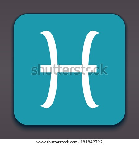 Pisces. Horoscope signs/symbols. Other signs are represented in the my portfolio. - stock photo