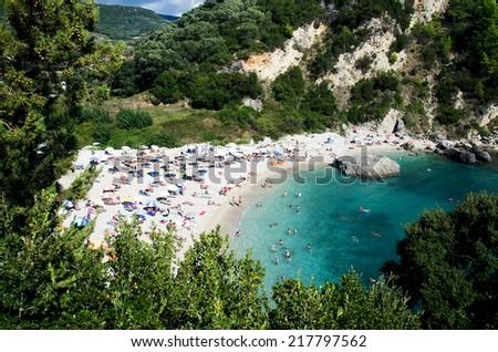 Piso krioneri beach .Parga ,Greece. - stock photo