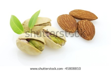 Pistachio and almonds