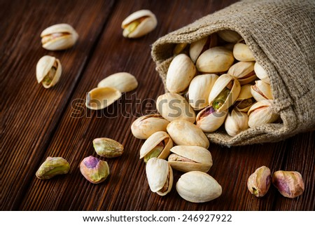 Pistachios. Selective focus - stock photo