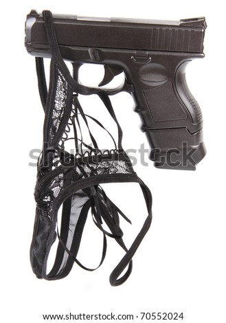 pistol and passion - stock photo