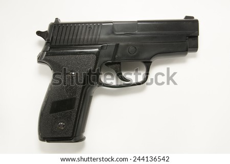 pistol isolated - stock photo