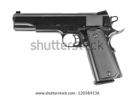 Pistol, isolated, no TM. - stock photo