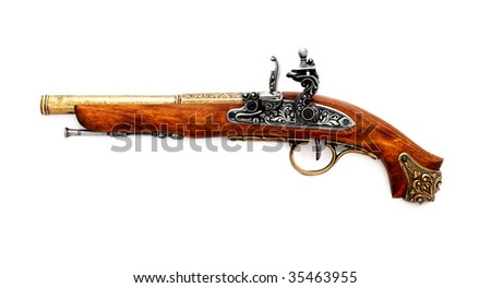 Pistol,isolated on a white background - stock photo