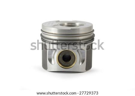 Piston on white background - stock photo