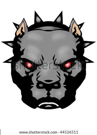 Pit-bull Illustration with Illustrator file - stock photo