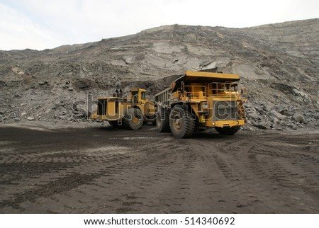 pit mine with a large dump truck