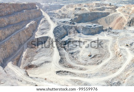 pit open mine - stock photo