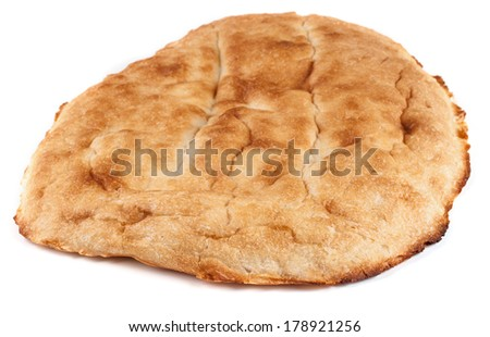 Pita bread on a white background. - stock photo