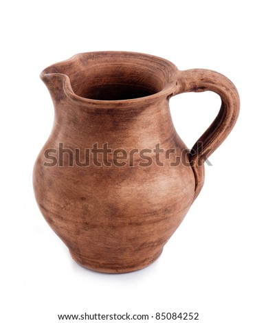 Pitcher on a white background - stock photo