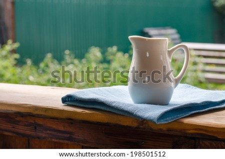 pitcher, summer, white - stock photo