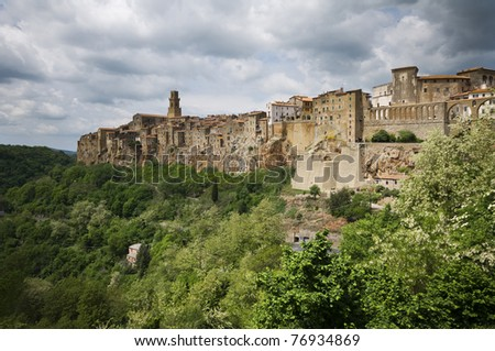 Pitigliano, rural village in Tuscany built on the rocks