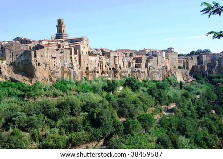 Pitigliano Village on the top of mountain