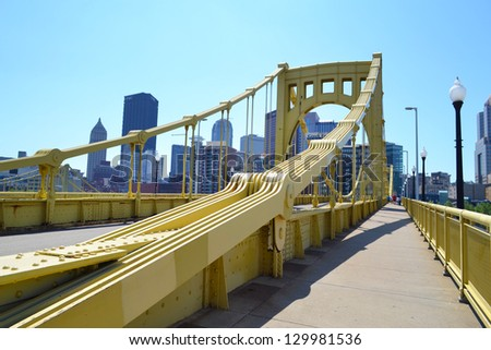 Pittsburgh bridges stock photos illustrations and vector art