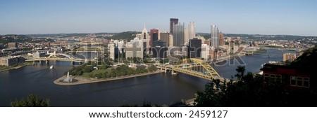 Pittsburgh Panoramic - stock photo