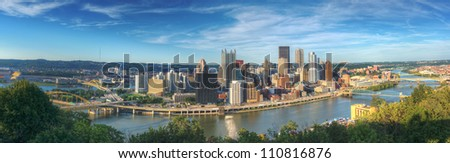 Pittsburgh, Pennsylvania panorama. - stock photo