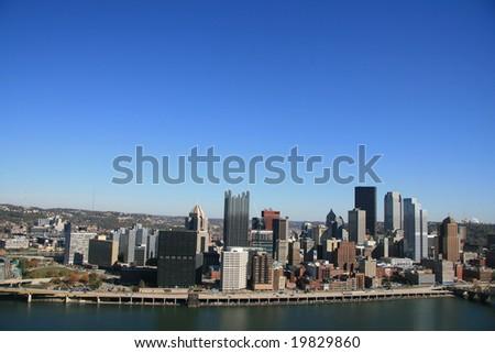 Pittsburgh's skyline - stock photo