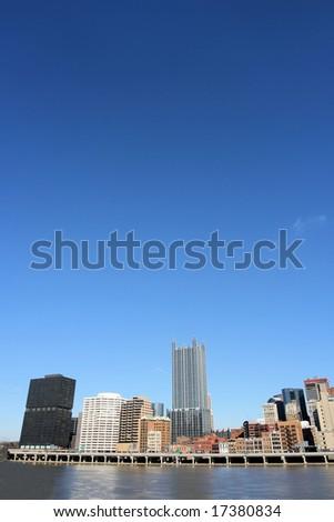 Pittsburgh's skyline from Mount Washington - stock photo