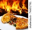 Pizza calzone - stock photo