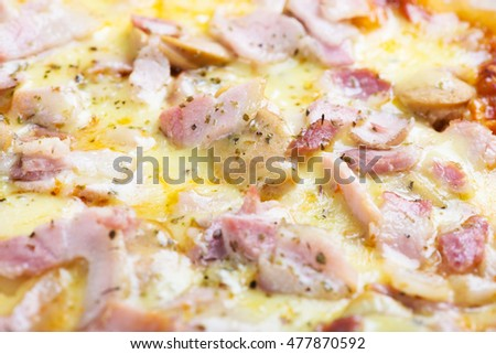 pizza cheese ham.