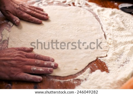 Pizza dough - stock photo