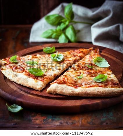 Pizza Margarita - stock photo